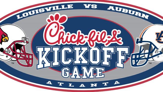 No. 6 Auburn vs. Louisville in 2015 Kickoff Classic Game in Georgia Dome.