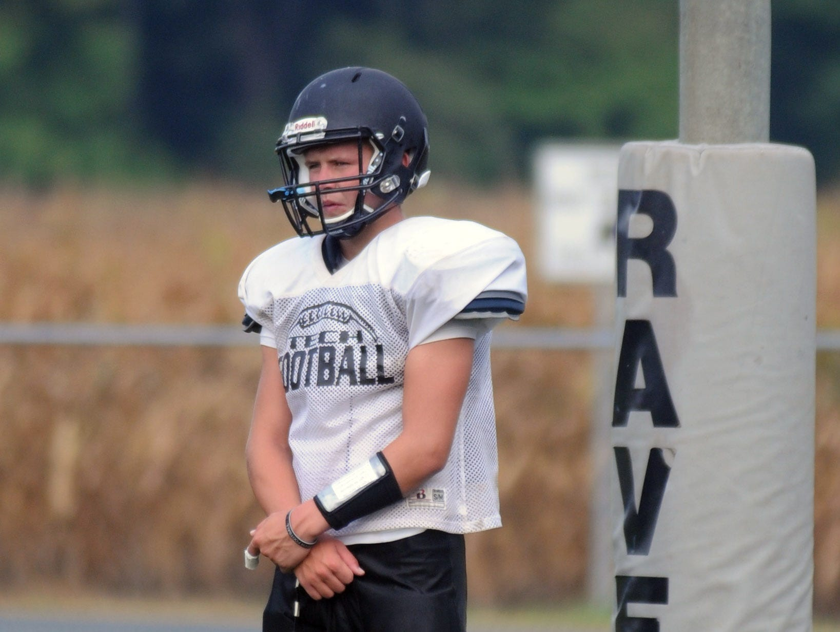 Sussex Tech senior starting quarterback Justin Hill.