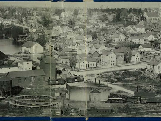 Historical panoramic of the CN Peninsula in Manitowoc.