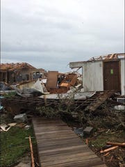 Damage in Rockport, Texas from Hurricane Harvey.