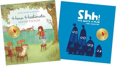 The 2015 Ezra Jack Keats Book Award winners are new writer Chieri Uegaki for Hana Hashimoto, Sixth Violin (Kids Can Press) and new illustrator Chris Haughton for Shh! We Have a Plan (Candlewick Press). Now in its 29th year, the Ezra Jack Keats Book Award fostered the careers of such talented artists as Angela Johnson, Deborah Wiles and Bryan Collier, all of whom, in the spirit of Keats, portrayed the universal qualities of childhood, a strong and supportive family and the multicultural nature of our world.