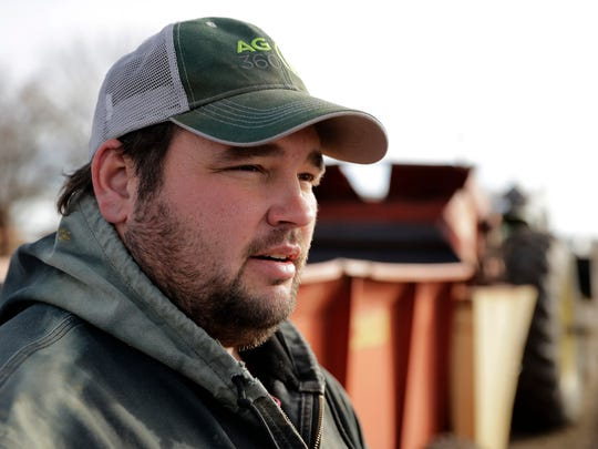 Matt Ubell works on his farm near Wheaton, Kan., on Wednesday, Dec. 21, 2016. Ubell is one of many farmers taking out government farm loans to make ends meet in a turbulent farm economy.