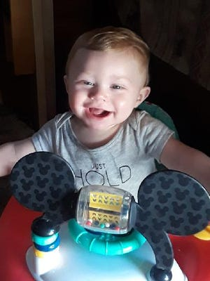 Blaize Wheeldon shortly before he died from bacterial meningitis on Friday, May 11, 2018.