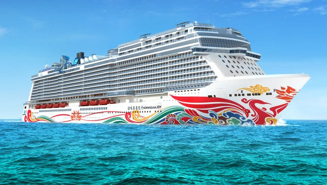 The Norwegian Joy will have a painting of a large red phoenix splashed across its steel hull.