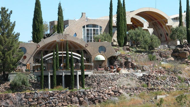 Arcosanti, near Cordes Junction, is a futuristic vision of urban living created by architect Paolo Soleri.