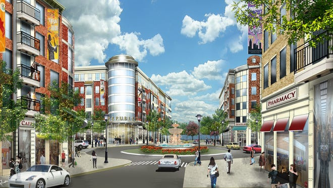 An artist's rendering of the Skymark project.