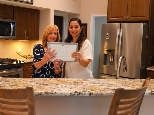 Homeonwer Debbie Bayline with Andrea Zgomc in the newly