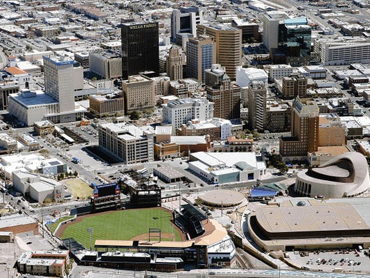 Southwest University Park, the home of the El Paso Chihuahuas shown in the foreground, has transformed the Downtown landscape.