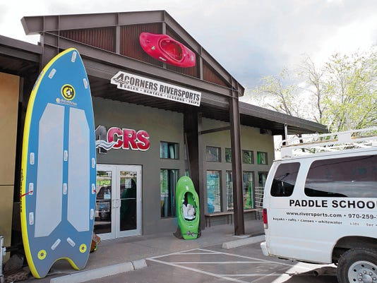 The entrance to 4Corners Riversports, located at 360 S. Camino del Rio #100 in Durango, Colo., is pictured on Friday.