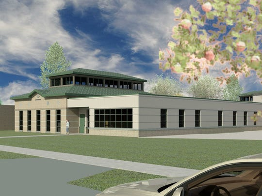 An artists rendition of the view of the new Stevens Point Boys & Girls Club facility, 2442 Sims Ave, from Michigan Avenue.