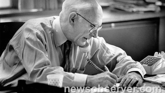 Claude Sitton worked as editor of The News & Observer in Raleigh until his 1990 retirement.