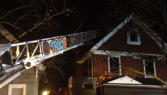A house caught fire on Rustic Street Monday night.