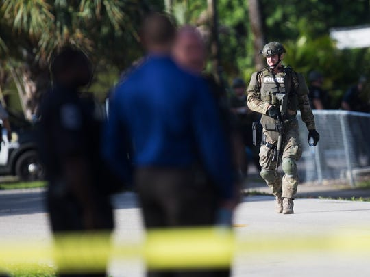 A heavy police prescence including members of the SWAT team were at the Pebble Court Apartment Complex on Monday morning in response to a shooting.  Two people were found dead in what police say was an apparent murder-suicide.