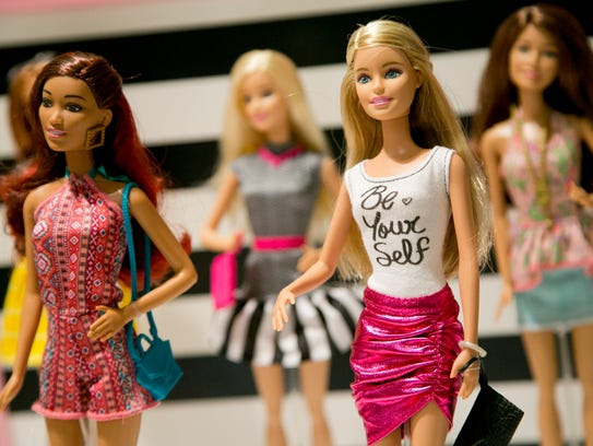 In this Sept. 29, 2015, photo, Barbie Fashionista Dolls