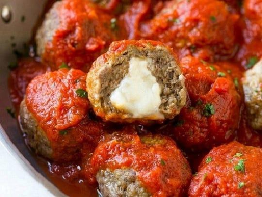 Mozzarella stuffed meatballs from Simply Delicious