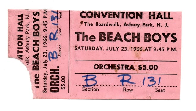 The Beach Boys July 23, 1966 at Asbury Park Convention Hall.