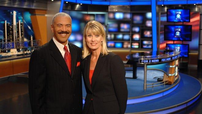 Huel Perkins of Fox 2 News with Monica Gayle.