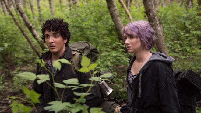 "Wes Robinson, left, and Valorie Curry star in ""Blair Witch."""