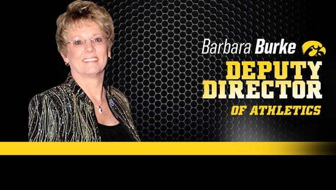 The promotion of Barbara Burke to deputy director of athletics was announced Tuesday.