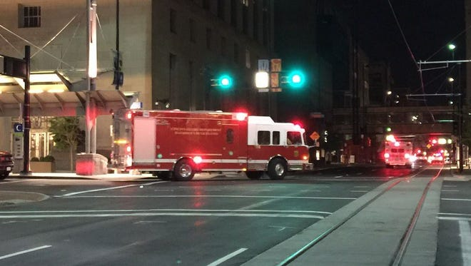 A Cincinnati police investigation into a suspicious object outside the U.S. Courthouse forced authorities to close the intersection of 5th and Main streets for about 90 minutes early Thursday.