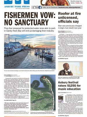 Asbury Park Press front page, Wednesday, April 13, 2016