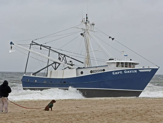 No injuries after boat grounds off point pleasant beach for Fishing boats point pleasant nj