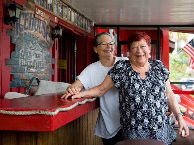 Joanie Griffin, right, owner and operator of Joanie's
