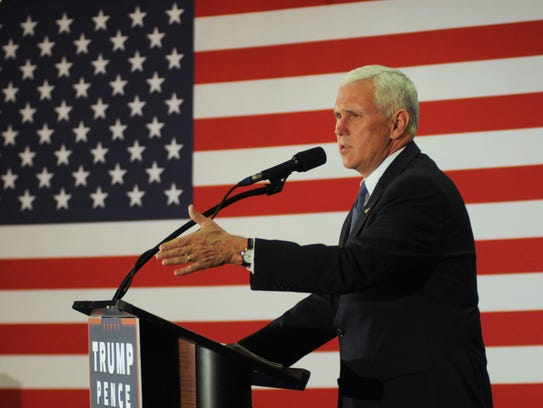 Mike Pence gives a speech in Florida on Oct. 31, 2016.
