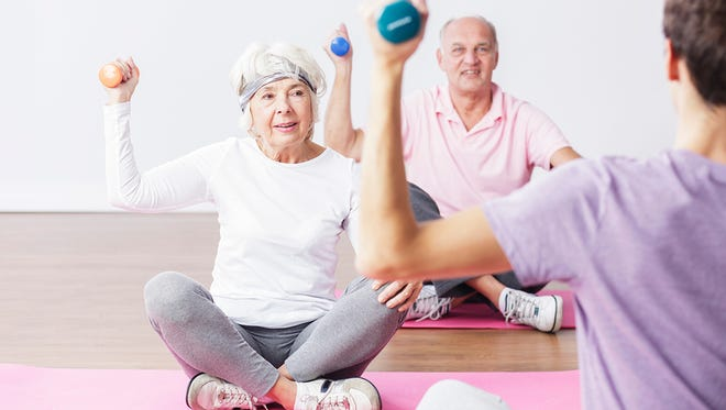 Working out in a group setting is a great way for seniors to be more accountable to sticking with an exercise routine.