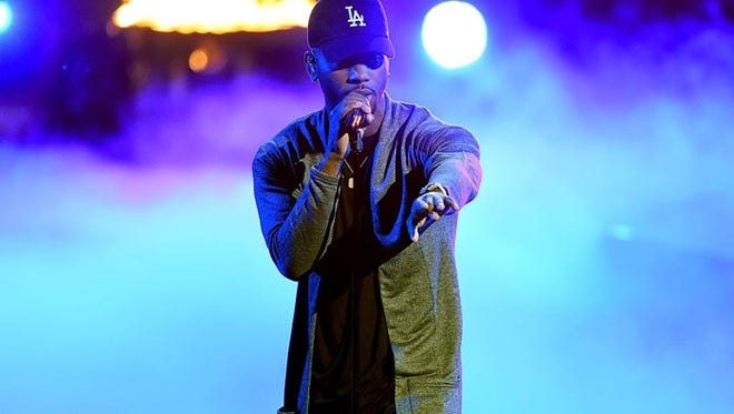 Bryson tiller performs at the 2016 BET Awards, where he won two awards.