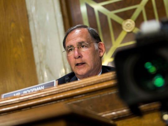 Sen. John Boozman, R-Ark., speaks during a Senate Appropriations
