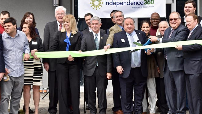 More than 150 people gathered in Whippany on April 5 to cut the ribbon on Independence360, a program of Spectrum360 providing services to adults with autism. Senator Richard Codey, Assemblywoman Betty Lou DeCroce and Assemblymen Thomas P. Giblin and Kevin Rooney, other dignitaries, friends, and families joined in the celebration.