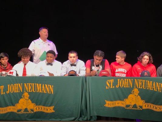 St. John Neumann signing ceremony