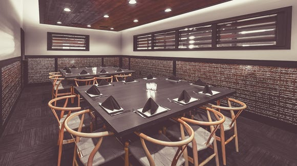 The EsterEv dining room, inside Dandan, has two tables of 10 seats. It's at 360 E. Erie St.