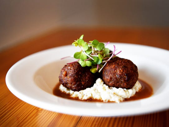 Foothills Butcher Bar's meatball du jour small plate