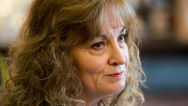 Glenda Ritz, who has faced pressure from Gov. Mike Pence, speaks during a news conference on April 30, 2015. at the Indiana Statehouse, suggesting that a run for governor might be in the works.