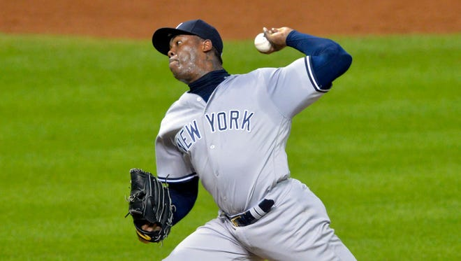 Barring a huge hot streak, Yankees closer Aroldis Chapman will be dealt.