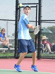 Stevenson's No. 1 singles player Cade Bunton is pictured