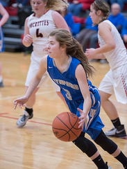 Rylee Alspach is one of the numerous underclassmen the Lady Royals have this season.
