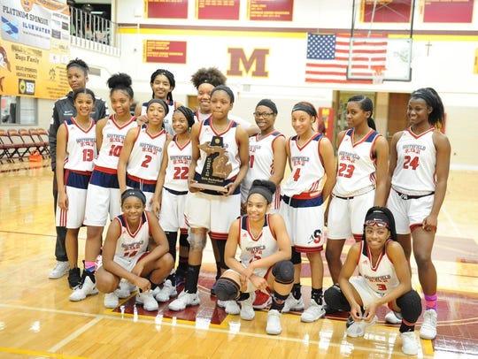 The Southfield Arts & Technology girls basketball team