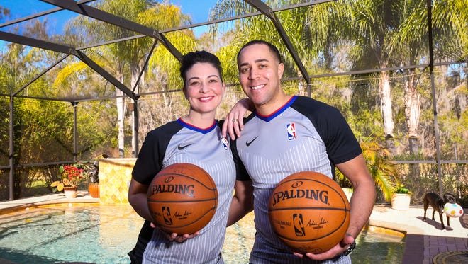 Jon Sterling and Lauren Holtkamp, both NBA referees, have to navigate an ongoing long-distance relationship.