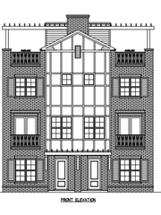This rendering shows one of the two four-story buildings