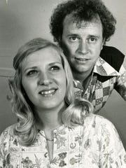 Knoxville natives Ava Barber and her husband Roger Sullivan on April 7, 1976. Barber performed on the Lawrence Welk Show between 1974 and 1982.