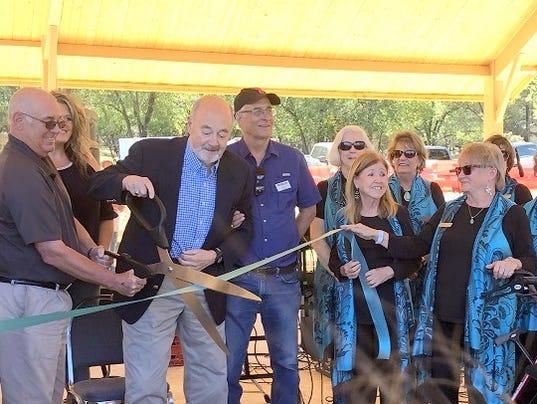 Wingfield pavilion ribbon cutting