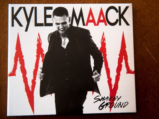 "The cover of Kyle Maack's CD 'Shakey Ground""."