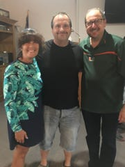 Kathryn Joy, Jim and Arthur Brandt - the Unitics, as they like to be called -- after setting up a delicious potluck feast for the Bike & Build riders at Unity of Fort Pierce on May 29.