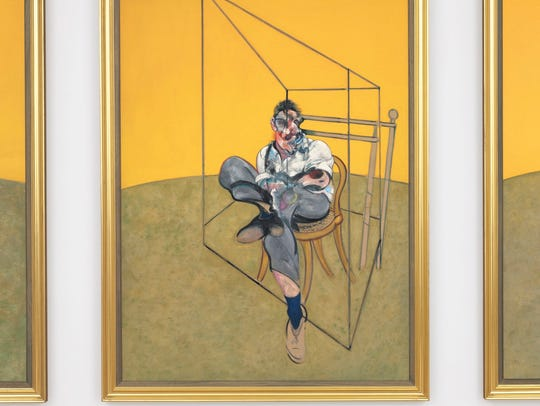 One of three paintings in Francis Bacon's triptych