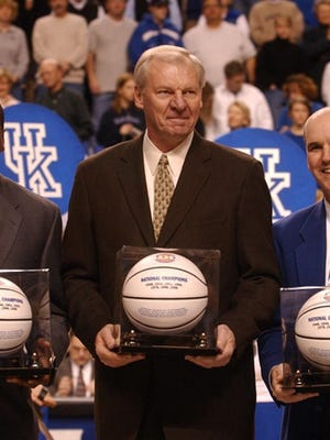 Members of UK's Fantasy Five, including Dan Issel in middle.