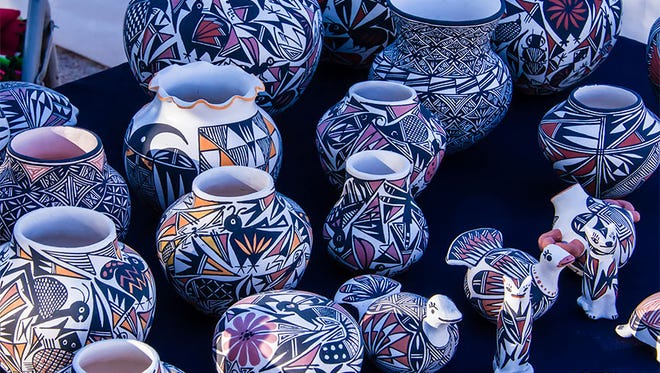 Pottery at the annual Pueblo Grande Auxiliary Indian Market at the Pueblo Grande Museum.