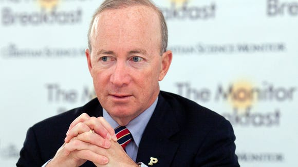 Purdue University president and former Indiana Gov. Mitch Daniels